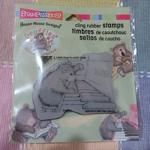 Stampendous-house mouse-cling rubber stamp